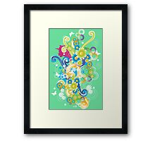Bang of colors and flowers Framed Print