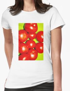 Tomato Red Womens Fitted T-Shirt