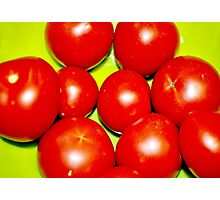 Tomato Red Photographic Print