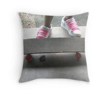 Pink Shoelaces Throw Pillow