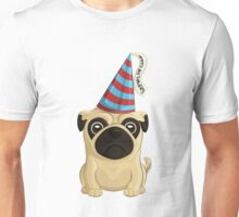 Birthday Pug 1 Unisex T-Shirt
