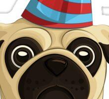Birthday Pug 1 Sticker