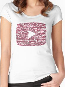 YouTubers Women's Fitted Scoop T-Shirt
