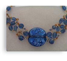 Blue Beaded Collar Canvas Print