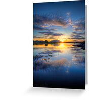 Sunset Reflect 2 Greeting Card