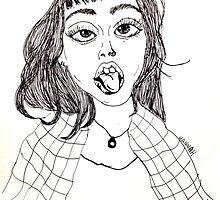 Hannah Snowdon Drawing by fayeemily