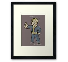 Fallout 3 Vault Boy typography Framed Print