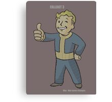 Fallout 3 Vault Boy typography Canvas Print