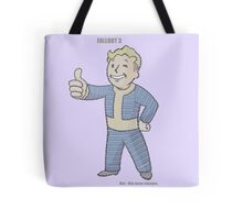 Fallout 3 Vault Boy typography Tote Bag