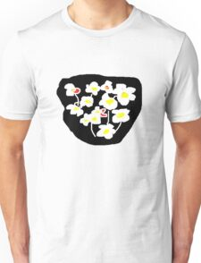 Black and white flowers T SHIRT Unisex T-Shirt