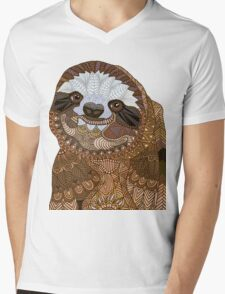Sloth Mens V-Neck T-Shirt