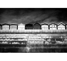 Small Huts, Big World BW Photographic Print