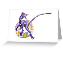 Genderqueer Juravenator (without text)  Greeting Card