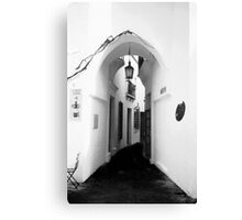 White washed walls in Barcelona Canvas Print