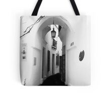 White washed walls in Barcelona Tote Bag