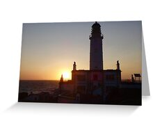 Corsewall Lighthouse Hotel Sunset. Greeting Card
