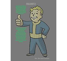 Fallout 3 Vault Boy typography Photographic Print