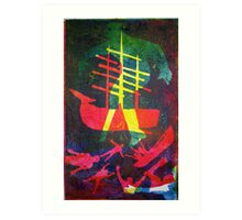 The Pequod #1 (from Meditations on Moby Dick) Art Print