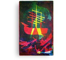 The Pequod #1 (from Meditations on Moby Dick) Canvas Print