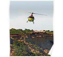 LSV Westpac chopper at Anglesea Poster
