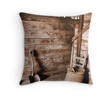 Inside a shed at Brickendon Farm, Longford Throw Pillow