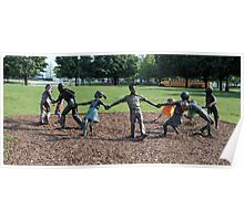 Kids Playing Poster