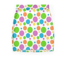 Colorful Polka Dots Mini Skirt