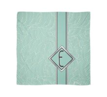 1920s Blue Deco Swing with Monogram letter E Scarf