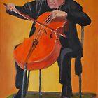 Mstislav Leopoldovich Rostropovich by Kostas Koutsoukanidis