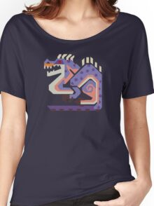 Jaggi Monster Hunter Print Women's Relaxed Fit T-Shirt