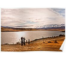 Shooting the landscape. Maniototo, South Island, New Zealand Poster