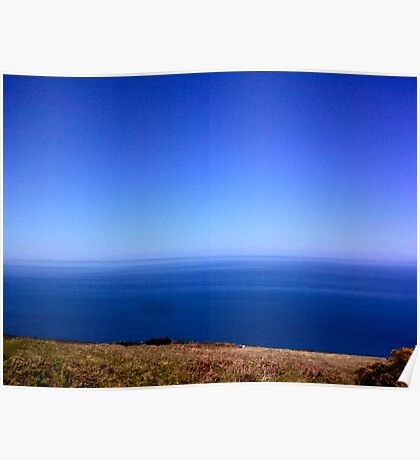 High Above The Bristol Channel Poster