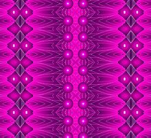 Patterns and Shapes Magenta Vibrations by Sarah Niebank