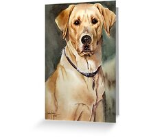 """Dove"" the Labrador Retriever Greeting Card"