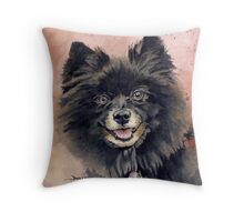 """Belle"" the Pomeranian Throw Pillow"
