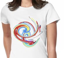 Swirl in Aqua T SHIRT/BABY GROW/STICKER/CASES/COLLECTION Womens Fitted T-Shirt