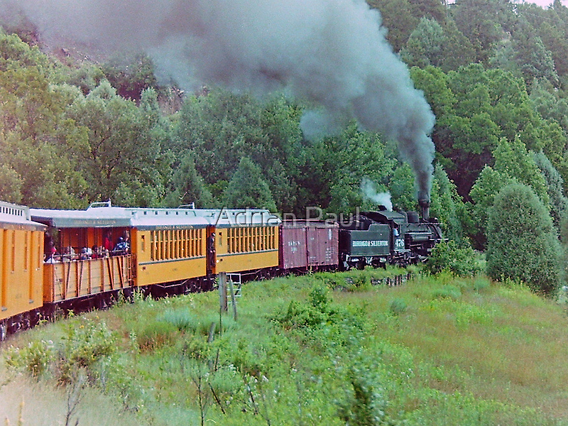 Durango to Silverton Railroad, Colorado, USA  by Adrian Paul
