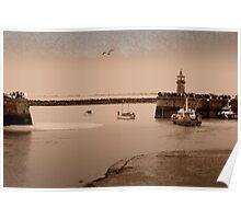 Little Ships leaving Ramsgate Harbour Poster