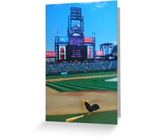 Randy was kicked off the team for hitting nothing but fowl balls….what the heck did they expect?!?!? Greeting Card
