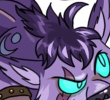 Night Elf Cat Druid Sticker Sticker