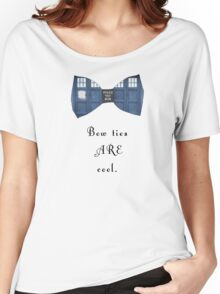 """""""Bow Ties ARE Cool."""" - Dr. Who (image + quote) Women's Relaxed Fit T-Shirt"""
