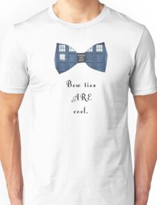 """""""Bow Ties ARE Cool."""" - Dr. Who (image + quote) Unisex T-Shirt"""