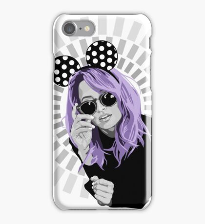 nicole richie in minnie mouse ears illustration iPhone Case/Skin