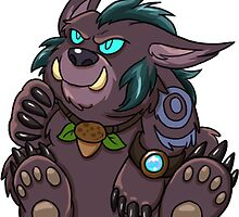 Night Elf Bear Druid Sticker by Cadistra