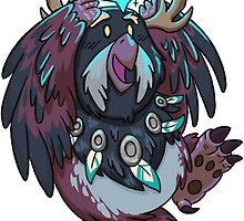 Night Elf Moonkin Druid Sticker by Cadistra