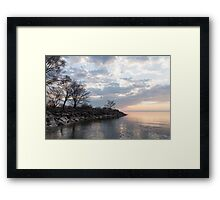 Lakeside Peace And Tranquility Framed Print