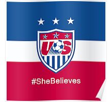 #SheBelieves   USWNT Poster
