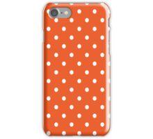 Orange Polka Dots iPhone Case/Skin