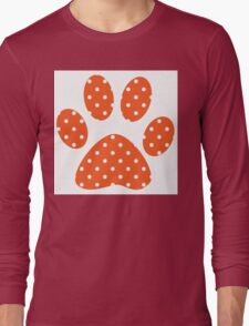Orange Polka Dots Long Sleeve T-Shirt
