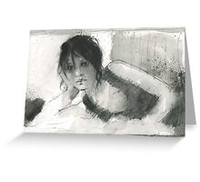 loose and fast with watersoluble graphite Greeting Card